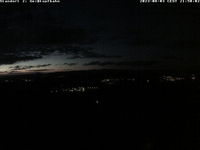 Webcam der Herrenabfahrt Geißkopf und Nordhanganfahrt I im Skigebiet Geißkopf zum Snowboarden im Bayerischen Wald